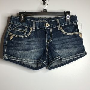 New Maurices Kaylee Jean Shorts 3/4 Thick Stitch